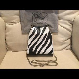 Vintage Sharif Black/White Leather Bag